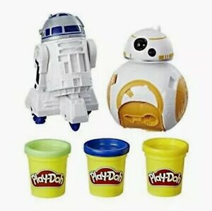 Play-Doh Star Wars BB-8 & R2-D2 Play Set Molds Yellow Green Blue Amazon Exlusive