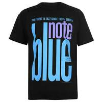 Official Mens Blue Note T Shirt Crew Neck Tee Top Short Sleeve Cotton Regular