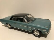 HIGHWAY 61 1963 Pontiac Tempest LeMans Coupe Aqua Blue 1/18 Scale Diecast