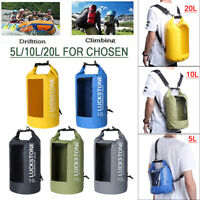 20L Outdoor Waterproof Canoe Swimming Camping Hiking Backpack Dry Bag Pouch Lot
