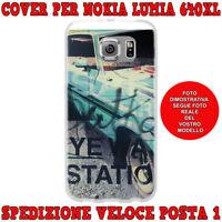 Cover case custodia protettiva in tpu per Nokia Lumia 640XL fantasi AUTO VINTAGE