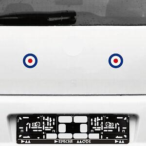 2 Stück 6cm Target Mod Scooter Aufkleber Tattoo Deko Auto Folie Roller Vespa