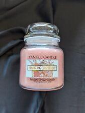 New Retired rare Yankee Candle Sparkling Grapefruit medium14.5oz jar white label