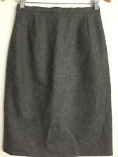 Celine Pencil Skirt Gray SZ 40 Wool Cashmere France Waist 28 Small