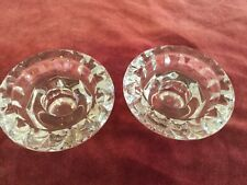Vintage French glass candle holders or  Tea light holders