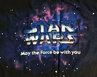Star Wars Original Vintage 1995 May The Force Be With You XXL Mens Black T-Shirt