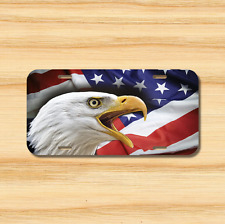 EAGLE USA Flag License Plate Vehicle Auto Tag American FREE SHIPPING Patriotic
