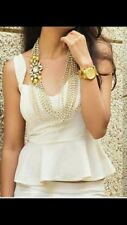 Kundan Pearl Necklace Gold Plated Bollywood Bridal Indian Jewelry