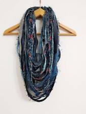 Die Frayed Denim Old Jeans Oversized Scarf Fabric Jewelry Jeans Necklace Tribal
