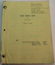 High School High * 1995 Original Movie Script  * Jon Lovitz Comedy
