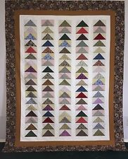 Flying Geese Quilt Top 73 x 95  Cotton Fabric Great for hand or machine quilting