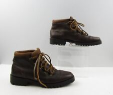 Ladies Timberland Brown Leather Ankle Hiking Boots Size: 9 M