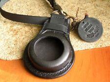 GENUINE LEATHER BAND HOLDER POCKET WW1 MILITARY WATCH STRAP CASE 36-40mm Black