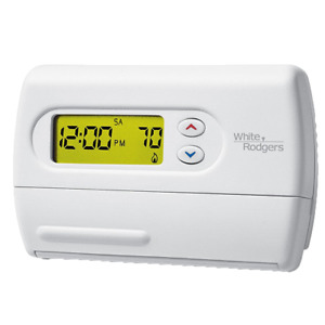 White-Rodgers Comfort-Set 80 Single Stage 5+1+1 Day Programmable Thermostat 1H/1