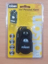 Rolson 3 in 1 personal alarm panic rape attack with led and motion PIR