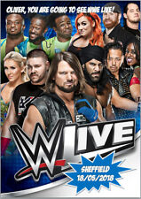 WWE Live Wrestling Tour Concert 2018 Tickets Card A5 Personalised own words