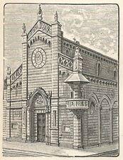 A6421 Prato - Cattedrale - Stampa Antica del 1929 - Incisione