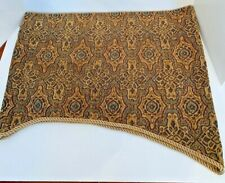"JC Penney 50"" Long Rod Pocket Window Valance 21"" Scalloped Heavy Brown Fabric"
