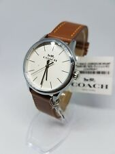 Coach Womens Watch Stainless 36MM 14502937 Brown Leather