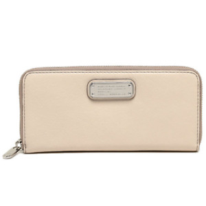 Marc by Marc Jacobs Women's New Q Slim Zip Around Wallet, Light Sand Multi, OS