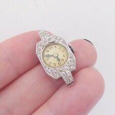 watch art deco 1920s Platinum diamond working wrist