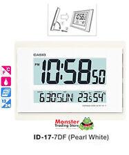 CASIO WALL CLOCK ID-17-7DF TEMPERATURE HUMIDITY 12 MONTH WARRANTY