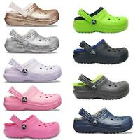 Crocs Kids Classic Fuzz Fleece Lined Roomy Fit Clogs Shoes Sandals 203506