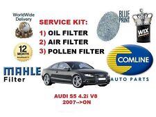 para Audi S5 4.2i Cupé V8 32v 2007> en NUEVO ACEITE FILTRO DE AIRE POLEN