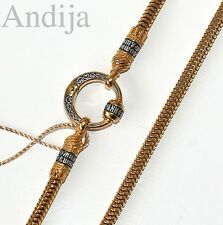 ROUND CHAIN W/CONNECTOR RUSSIAN ORTHODOX STERLING SILVER 925+999 GOLD 50cm 19,7""