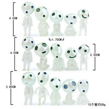 15Pc Figures Princess Mononoke Forest Spirit Elf Kodama Gardening Ornaments Doll