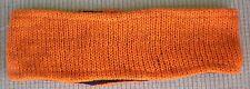 Hand Crocheted 100% Wool w/ Fleece Lining Headband Adult Size ORANGE