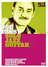 Joe Pass Solo Jazz Guitar Tutor Learn HOT LICKS DVD NEW