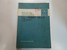 1980 MERCEDES Passenger Cars Introduction Into Service Manual WATER DAMAGED WORN