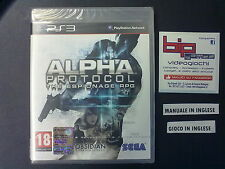 ALPHA PROTOCOL THE ESPIONAGE RPG PS3 PLAYSTATION 3 PAL NUOVO SIGILLATO