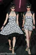 Betsey Johnson Runway MARILYN WINK BETSEY BABE Fit N Flare Dress Embroidery