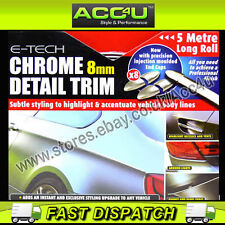E-Tech 8mm Chrome Car Detail Body Trim Grill Lights Protection Styling Strip Kit