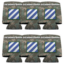 Set of 6 3rd Infantry Division Military Themed Koozies