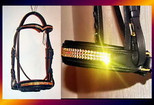 FSS Rhinestone Crystal ULTRA BLING Comfort Padded Dressage BRIDLE Custom Made