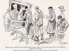 92 LEVALLOIS GEO HAM CANTINE INTER USINE DISTRIBUTION MARMITES IMAGE 1943 PRINT