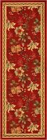 "Runner Non Skid Hallway Oriental Area rugs Red 2x5 (23""X59"") Runners Area Rug"