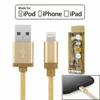 [Apple MFI Certified]Lightning To USB Braided Charger Cable For iPhone iPod iPad