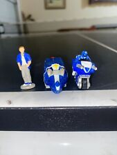 Vintage 1994 Micro Machines Power Rangers Set #3 Blue Ranger Near Complete
