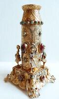 Flacon ARGENT massif Austro-hongrois grenat silver garnet bottle angel turquoise