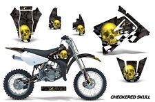 AMR Racing Graphics Decal Kit Suzuki RM 85 Sticker Wrap 2002-2012 CHCKRD SKULL Y