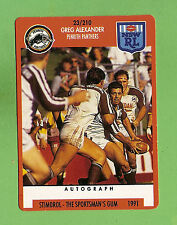 1991 PENRITH PANTHERS  RUGBY LEAGUE CARD #23  GREG ALEXANDER