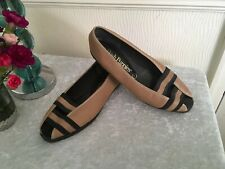"Ladies Flat Tan Leather Summer Shoes By""HUSH PUPPIES""size 7uk"