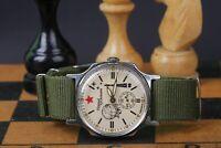 Pobeda Wristwatch Yuri Gagarin Mechanical Vintage Military Russian