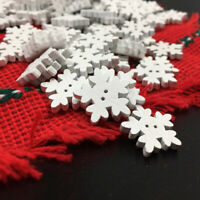 Fj- 100Pcs 1.7cm Neve Albero di Natale da Parete Decorazione Fai Te Legno Craft