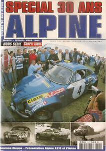 COMPTE TOURS HS 2004 ALPINE A110 1800 Gr4 CHAMPIONNE DU MONDE DES RALLYES 1973
