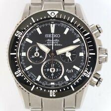 SEIKO BRIGHTZ Ananta SAEK013 Mechanical Automatic Chronograph Divers Black Dial